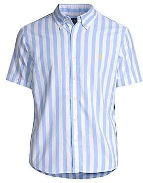 Polo Ralph Lauren Men's Classic-Fit Striped Short-Sleeve Cotton Poplin Shirt