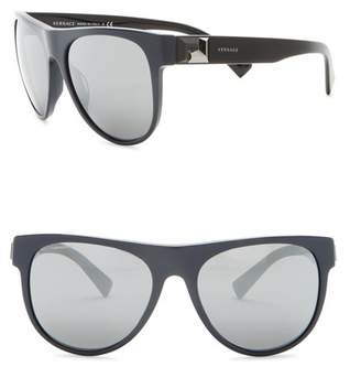 Versace 57mm Round Sunglasses