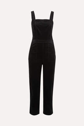 J.Crew Cotton-blend Velvet Jumpsuit - Black