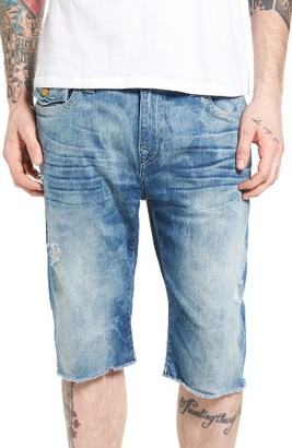 Men's True Religion Brand Jeans Ricky Cutoff Denim Shorts $199 thestylecure.com