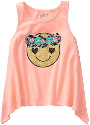 Crazy 8 Crazy8 Toddler Sparkle Emoji Tank