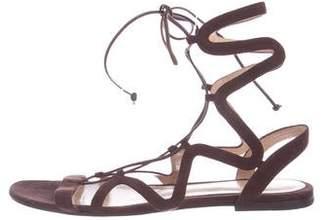 Gianvito Rossi Suede Wrap-Around Sandals