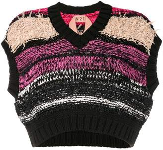 No.21 cropped chunky knitted top
