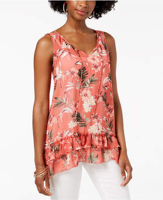 Style&Co. Style & Co Tiered Handkerchief-Hem Top, Created for Macy's