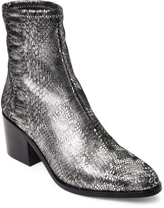 Opening Ceremony Silver Livv Metallic Snake-Effect Boots