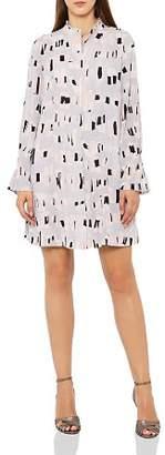 Reiss Oretta Geo-Print Shirt Dress