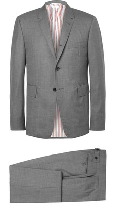 Thom Browne Grey Wool Suit $2,325 thestylecure.com