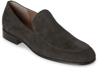 Gianvito Rossi Dark Grey Marcello Suede Loafers