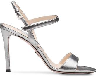 Prada Pearly laminated sandals