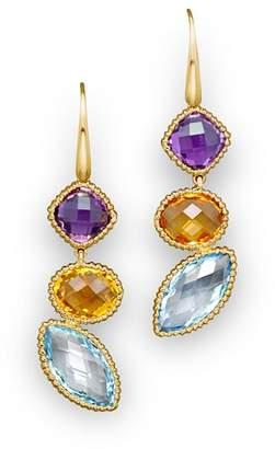 Bloomingdale's 14K Yellow Gold and Multi Gem Drop Earrings - 100% Exclusive