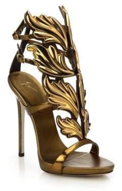 Giuseppe Zanotti Metallic Leather Wing Sandals