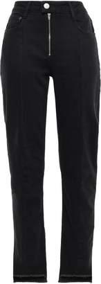 Maje Frayed High-rise Straight-leg Jeans