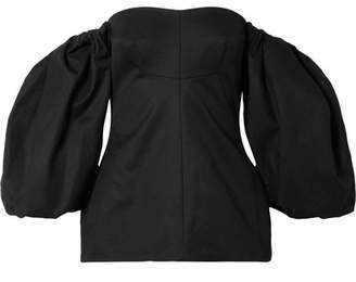 Ellery Countess Off-the-shoulder Cotton-twill Top - Black