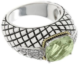 Candela Andrea Ibiza 18K & Silver Amethyst & 0.10 Ct. Tw. Diamond Ring