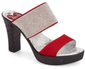 Dakota Love and Liberty 'Dakota' Crystal Embellished Double Band Sandal