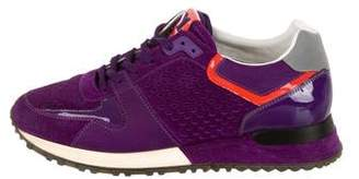 Louis Vuitton Suede Low-Top Sneakers