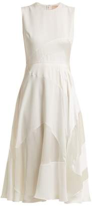 Roksanda Keanu Paneled Silk Satin Dress - Womens - Ivory