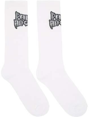 Palm Angels White Metal Palm Socks