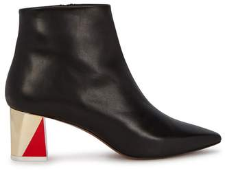 Neous Alpha Black Leather Ankle Boots