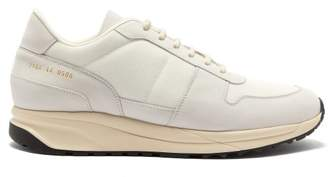 Common Projects Track Vintage Mesh And Suede Trainers - Mens - White