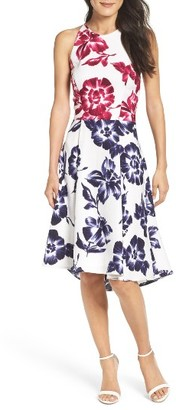 Women's Maggy London Print Fit & Flare Dress $138 thestylecure.com