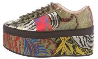 Gucci 2017 Tiger Jacquard Platform Sneakers w/ Tags