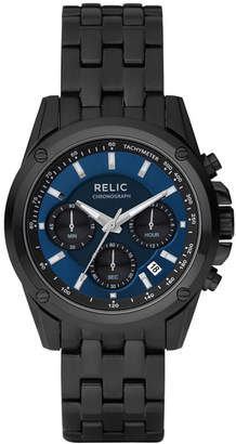 JCPenney RELIC Relic Mens Black & Blue Chronograph Watch ZR66035