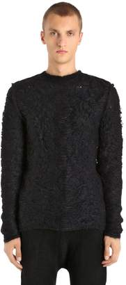 Isabel Benenato Shredded Wool & Cotton Knit Sweater