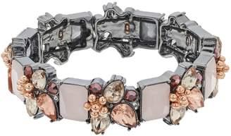 Vera Wang Simply Vera Cluster Stone Stretch Bracelet