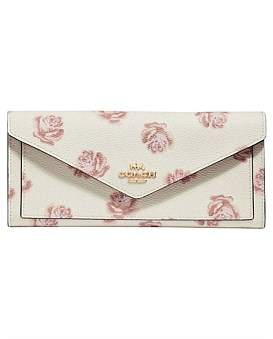 Coach Rose Print Soft Wallet