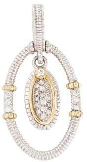 Judith Ripka Two-Tone Diamond Enhancer Pendant