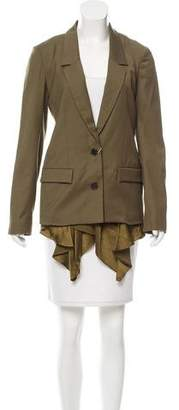Thakoon Wool-Blend Notch-Lapel Blazer w/ Tags