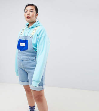 Asos DESIGN x glaad& Curve overalls in color block