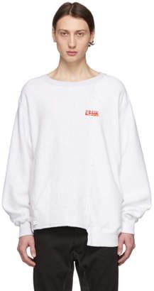 Facetasm White Colorblock Sweatshirt