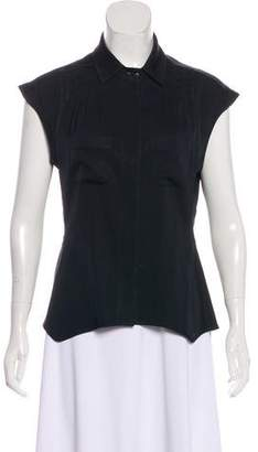 Zac Posen Silk Short Sleeve Top