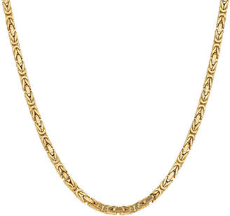 FINE JEWELRY 14K Gold 30 Inch Solid Byzantine Chain Necklace