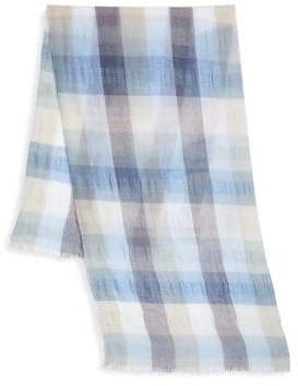 Saks Fifth Avenue COLLECTION Large Lightweight Scale Plaid Scarf