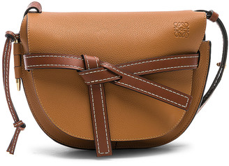 Loewe Gate Small Bag in Light Caramel & Pecan Color | FWRD