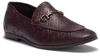 GUESS Edwin Embossed Faux Leather Loafer