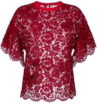 Valentino heavy lace top