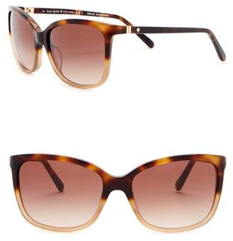 Kate Spade Kasie 55mm Square Sunglasses