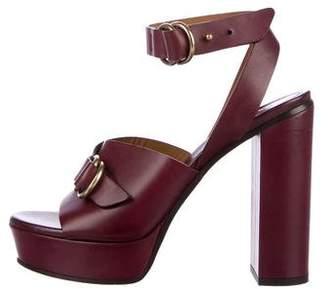 Chloé Leather Platform Sandals