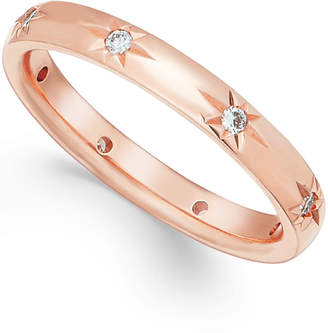 Marchesa Star by Diamond Wedding Band in 18k Rose Gold (1/8 ct t.w.), Created for Macy's