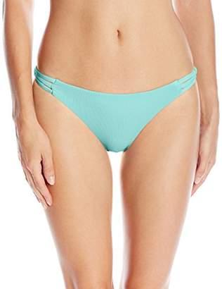 Roxy Women's Strappy Me Surfer Bikini Bottom $9.45 thestylecure.com