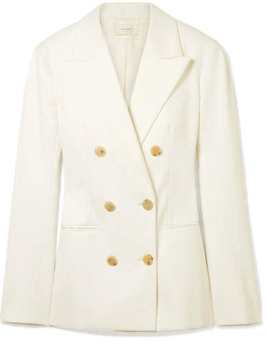 The Row Rupsen Double-breasted Cotton-twill Blazer