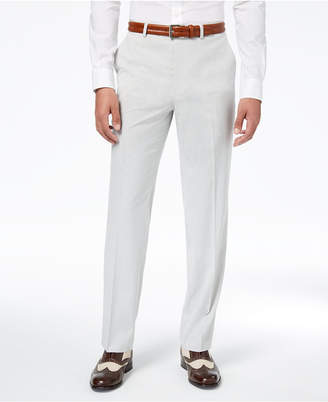 Sean John Men's Classic-Fit Stretch Gray Stripe Seersucker Suit Pants