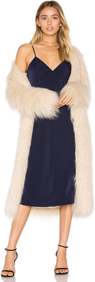 House of Harlow x REVOLVE Marisa Faux Fur Coat $310 thestylecure.com