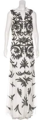 Aidan Mattox Embellished Mesh Dress w/ Tags