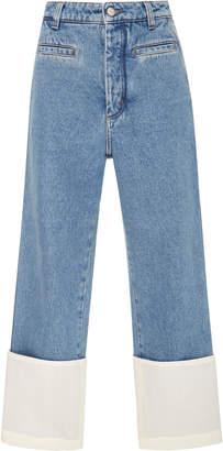 Loewe Fisherman Stonewashed Cuffed Jeans