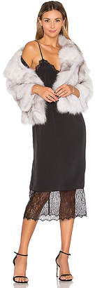 Adrienne Landau Fox Fur Jacket